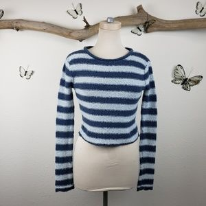 Free people beach blue striped sweater